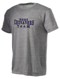 Bishop Heelan Catholic High School Crusaders Alternative Men's Eco Heather T-shirt