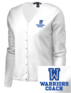 Wickes Elementary School Warriors Embroidered Women's Stretch Cardigan Sweater