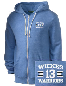 Wickes Elementary School Warriors Embroidered Alternative Men's Rocky Zip Hooded Sweatshirt