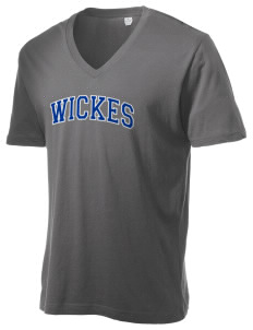 Wickes Elementary School Warriors Alternative Men's 3.7 oz Basic V-Neck T-Shirt