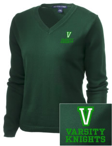 Valley Elementary School Knights Embroidered Women's V-Neck Sweater