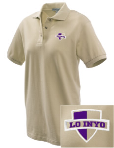 Lo Inyo Elementary School Hawks Embroidered Women's Pique Polo