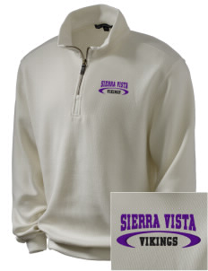 Sierra Vista Middle School Vikings Embroidered Men's 1/4-Zip Sweatshirt