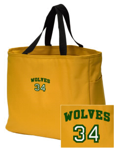 Reed Middle School Wolves Embroidered Essential Tote