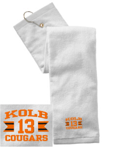Kolb Middle School Cougars Embroidered Hand Towel with Grommet