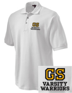 Golden State Middle School Warriors Embroidered Tall Men's Pique Polo