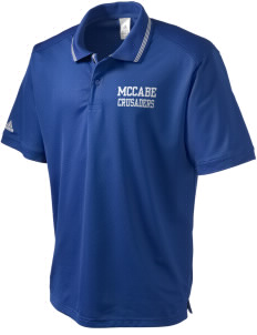 McCabe Elementary School Crusaders adidas Men's ClimaLite Athletic Polo