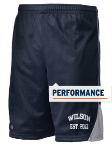 "Wilson Junior High School Warriors Holloway Men's Possession Performance Shorts, 9"" Inseam"