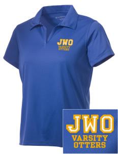 J W Oakley Primary School Otters Embroidered Women's Double Mesh Polo
