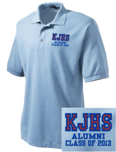 Kankakee Junior High School Warriors Embroidered Men's Silk Touch Polo