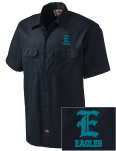 Cielo Vista Elementary School Eagles Embroidered Dickies Men's Short-Sleeve Workshirt