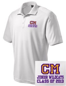 Carrier Mills Elementary School Junior Wildcats Embroidered Nike Men's Dri-Fit Classic Polo