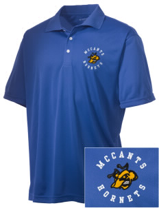 McCants Middle School Hornets Embroidered Men's Double Mesh Polo