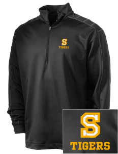 Sims Junior High School Tigers Embroidered Nike Men's Golf Dri-Fit 1/2 Zip