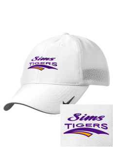 Sims Junior High School Tigers Embroidered Nike Golf Mesh Back Cap