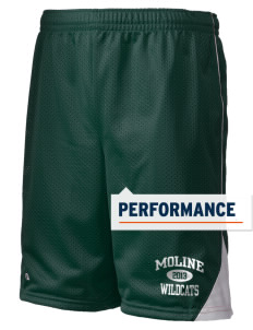 "Moline Elementary School Wildcats Holloway Men's Possession Performance Shorts, 9"" Inseam"