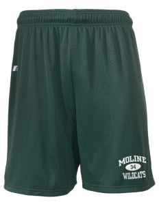 "Moline Elementary School Wildcats  Russell Men's Mesh Shorts, 7"" Inseam"