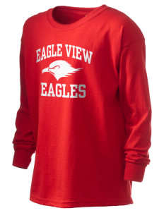 Eagle View Elementary School Eagles Kid's 6.1 oz Long Sleeve Ultra Cotton T-Shirt