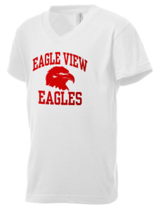 Eagle View Elementary School Eagles Kid's V-Neck Jersey T-Shirt