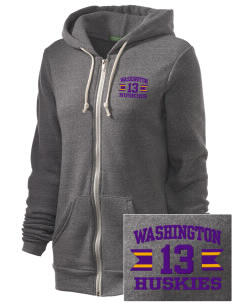 Washington Middle School Huskies Embroidered Alternative Unisex The Rocky Eco-Fleece Hooded Sweatshirt