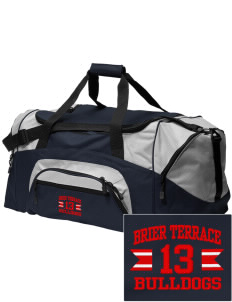 Brier Terrace Middle School Bulldogs Embroidered Colorblock Duffel Bag