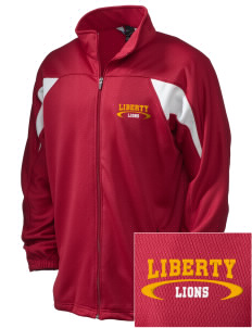 Liberty High School Lions Embroidered Holloway Men's Full-Zip Track Jacket