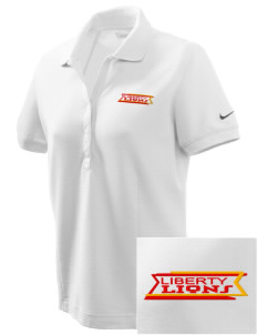 Liberty High School Lions Embroidered Nike Women's Pique Golf Polo