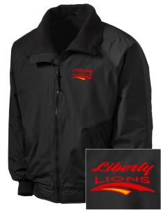 Liberty High School Lions Embroidered Tall Men's Challenger Jacket