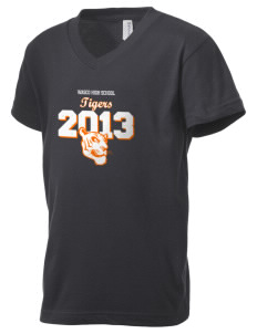 Wasco High School Tigers Kid's V-Neck Jersey T-Shirt