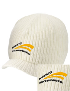 Novato High School Hornets Embroidered Knit Beanie with Visor