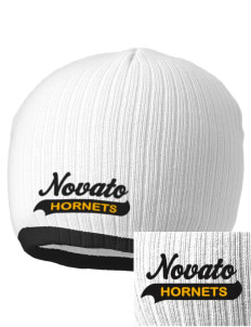 Novato High School Hornets Embroidered Champion Striped Knit Beanie