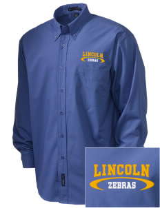 Lincoln High School Zebras  Embroidered Men's Easy Care, Soil Resistant Shirt