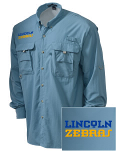 Lincoln High School Zebras Embroidered Men's Explorer Shirt with Pockets