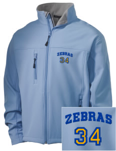 Lincoln High School Zebras Embroidered Men's Soft Shell Jacket