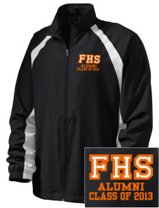 Foothill High School Mustangs  Embroidered Men's Full Zip Warm Up Jacket