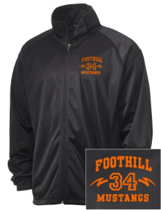 Foothill High School Mustangs Embroidered Men's Tricot Track Jacket