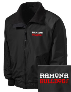 Ramona High School Bulldogs Embroidered Men's Fleece-Lined Jacket