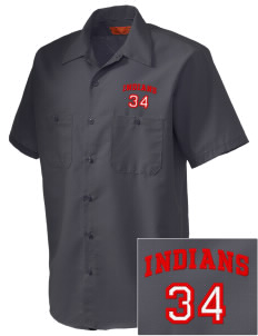 Loveland High School Indians Embroidered Men's Cornerstone Industrial Short Sleeve Work Shirt