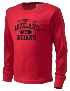Loveland High School Indians  Kid's Long Sleeve T-Shirt