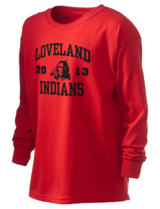 Loveland High School Indians Kid's 6.1 oz Long Sleeve Ultra Cotton T-Shirt
