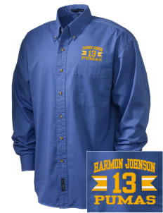 Harmon Johnson Elementary School Pumas Embroidered Tall Men's Twill Shirt