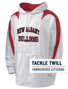 New Albany High School Bulldogs Holloway Men's Sports Fleece Hooded Sweatshirt with Tackle Twill