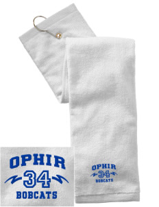 Ophir Elementary School Bobcats Embroidered Hand Towel with Grommet