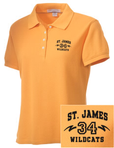 Saint James High School Wildcats Embroidered Women's Performance Plus Pique Polo
