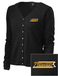 Farmville Central High School Jaguars Embroidered Women's Stretch Cardigan Sweater