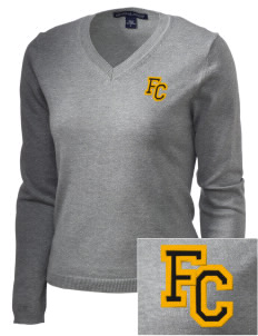 Farmville Central High School Jaguars Embroidered Women's V-Neck Sweater