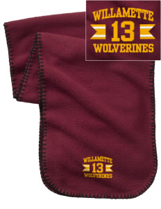 Willamette High School Wolverines Embroidered Fleece Scarf