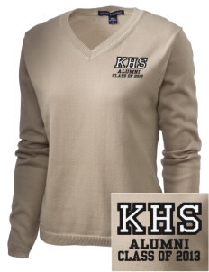 Keystone High School Panthers Embroidered Women's V-Neck Sweater