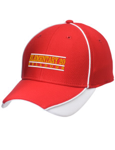 Elementary School 20 Bulldogs Embroidered New Era Contrast Piped Performance Cap