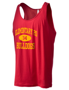 Elementary School 20 Bulldogs Men's Jersey Tank